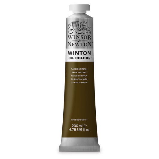 Winsor & Newton™ Winton Oil Color 6.75 oz. (200 ml) Tube - Van Dyke Brown