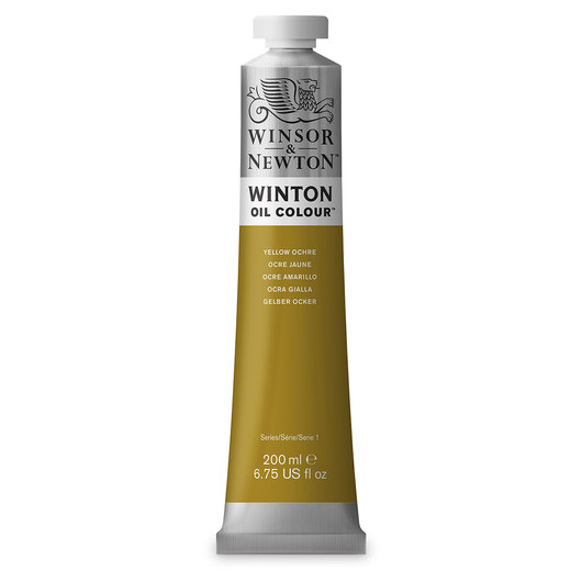 Winsor & Newton™ Winton Oil Color 6.75 oz. (200 ml) Tube - Yellow Ochre