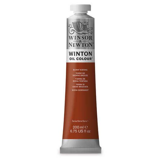 Winsor & Newton™ Winton Oil Color 6.75 oz. (200 ml) Tube - Burnt Sienna