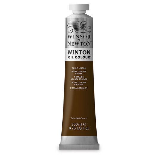 Winsor & Newton™ Winton Oil Color 6.75 oz. (200 ml) Tube - Burnt Umber