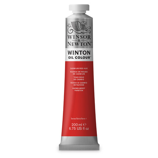 Winsor & Newton™ Winton Oil Color 6.75 oz. (200 ml) Tube - Cadmium Red Hue