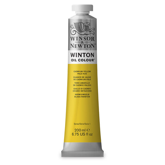 Winsor & Newton™ Winton Oil Color 6.75 oz. (200 ml) Tube - Cadmium Yellow Pale Hue