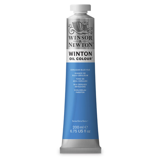 Winsor & Newton™ Winton Oil Color 6.75 oz. (200 ml) Tube - Cerulean Blue Hue