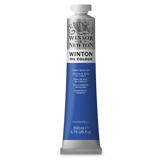 Winsor & Newton™ Winton Oil Color 6.75 oz. (200 ml) Tube - Cobalt Blue Hue