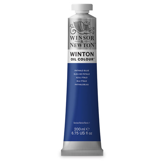 Winsor & Newton™ Winton Oil Color 6.75 oz. (200 ml) Tube - Phthalo Blue