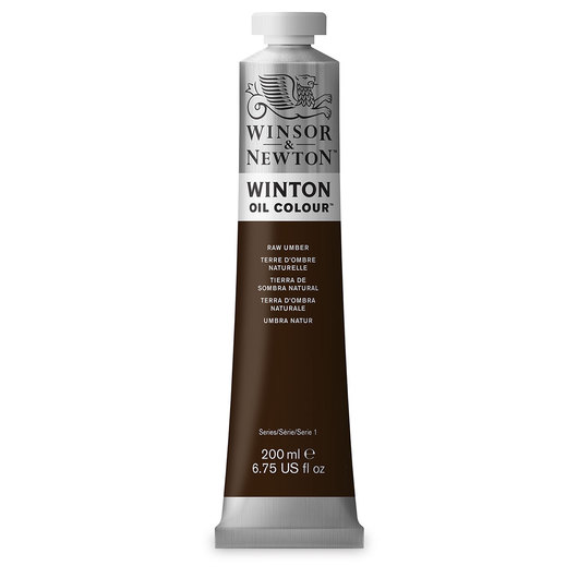 Winsor & Newton™ Winton Oil Color 6.75 oz. (200 ml) Tube - Raw Umber