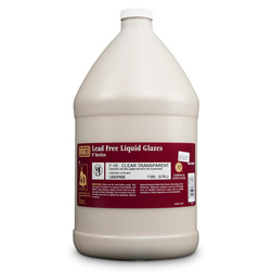 AMACO® Lead-Free Low-Fire F-Series Glazes - F-10 Clear Transparent Gallon - Liquid Only