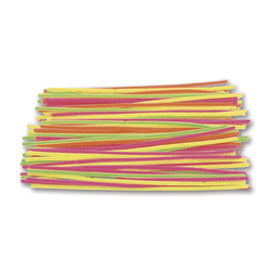 Jumbo Hot Colors Chenille Stems - Pkg. of 100 - 12 in. Long