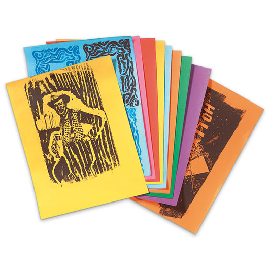 Subi® Block Printing Paper - 9 in. x 12 in. Assorted Colors - Pkg. of 40