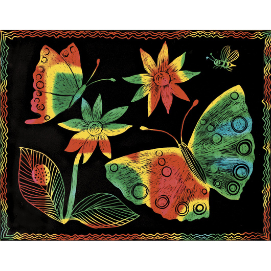 Multicolor Scratch-Art® Paper and Soft-Scratch® Board - 8-1/2 in. x 11 in.