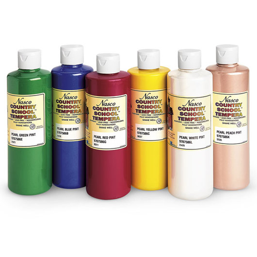 Nasco Country School™ Pearlescent Tempera Paint Set #1