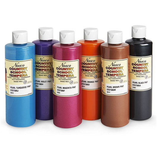 Nasco Country School™ Pearlescent Tempera Paint Set #2