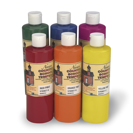 Nasco Country School™ Tempera Paint - Set of 6 Pints