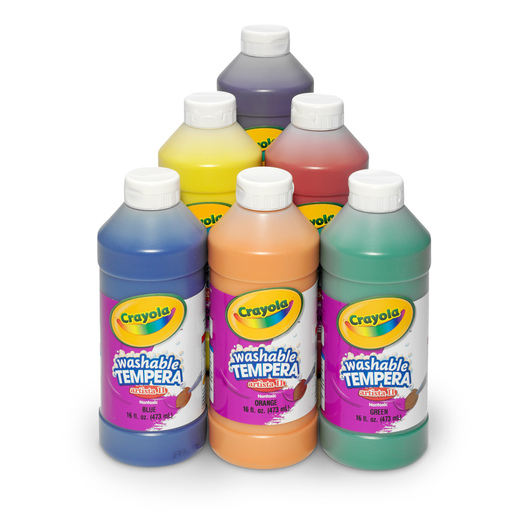 Crayola® Artista II® Washable Tempera Paint - Set of 6 Pints