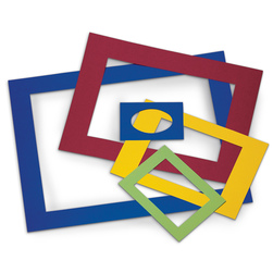 Pacon PreCut Colored Mat Frames