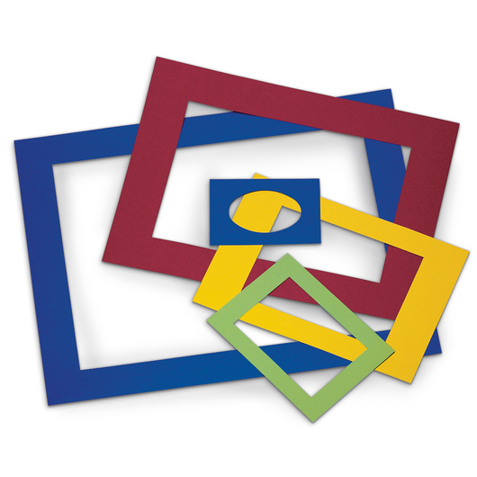 Pacon® Pre-Cut Colored Mat Frames - Pkg. of 60