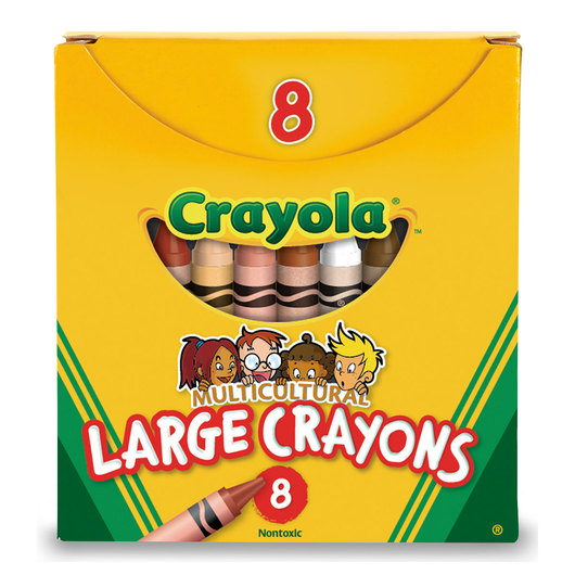 Crayola® Multicultural Crayons - Large Size, 4 in. x 7/16 in.
