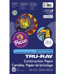 Pacon® Tru-Ray® Fade-Resistant Construction Paper - Assorted Colors - 9 in. x 12 in.