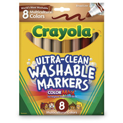 Crayola® Ultra-Clean Washable® Multicultural Markers - 8-Color Set