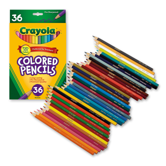 Crayola® Colored Pencils - Set of 36 | Colored Pencils | Drawing ...