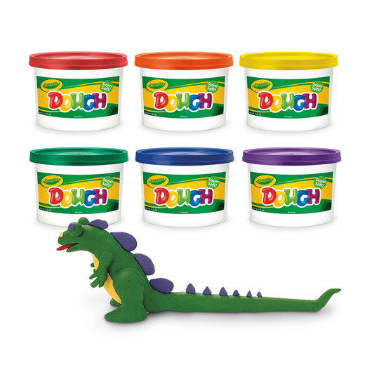 Crayola® Dough Reusable Modeling Compound - Set of 6, 3-lb. Buckets