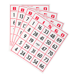Jumbo Bingo Cards Only
