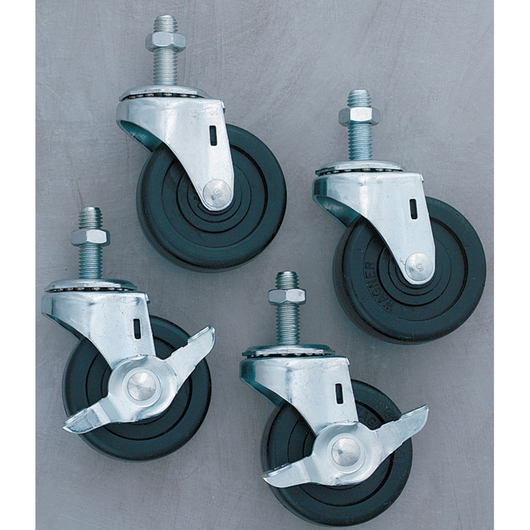 Casters for Paper Racks - Set of 4