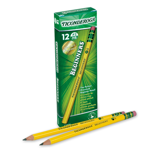 Ticonderoga® Beginner's Pencil with Eraser - Pkg. of 12