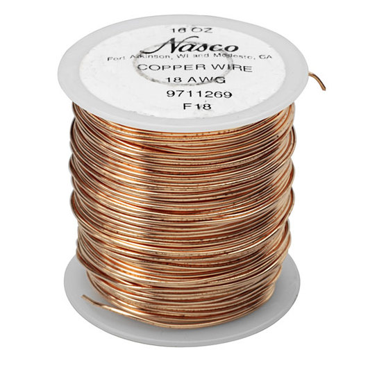 Copper Wire - 18 Gauge 9711269|Nasco on copper enclosures, copper connectors, copper doors, copper ground wire, copper wire loop, copper trim, copper fasteners, copper building, copper electrical wire, copper hardware, copper appliances, copper coins, copper siding, copper design, copper painting, copper cables, copper sheet metal, copper diagram, copper circuit board, copper socket,