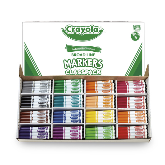 Crayola® Original 16-Color Conical-Tip Marker Classpack® of 256