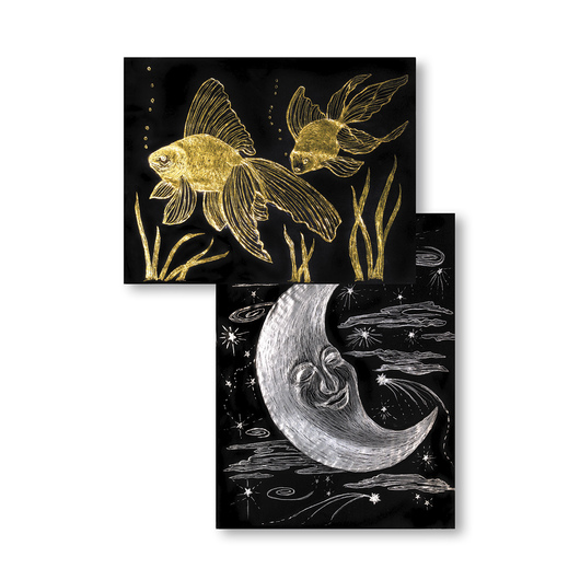 Scratch-Art® Gold & Silver Foil Paper - Pkg. of 50, 8-1/2 x 11