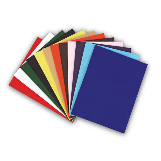 Acrylic Value Pack Felt Assortment - Pkg. of 25 - 9 in. x 12 in.