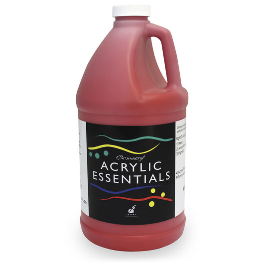 Chromacryl® Acrylic Essentials - Warm Red - 1/2-Gallon Bottle