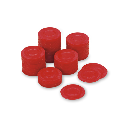 Bingo/Poker Chips - Large Plastic Economy, Red