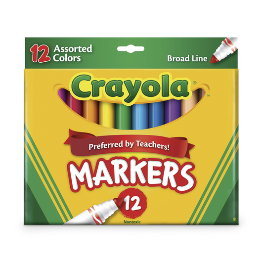 Crayola® Classic Original Conical-Tip Markers - Set of 12