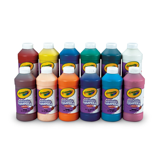 Crayola® Artista II® Washable Tempera Paint - Set of 12 Pints
