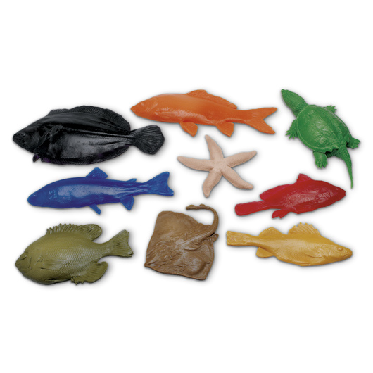 Nasco Fish Replica Rubber Stamp for Printmaking - Set of 9