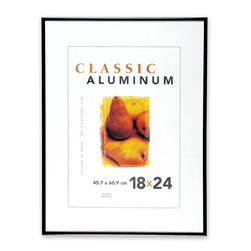 Deluxe Black Aluminum Art Frame - 18 in. x 24 in.