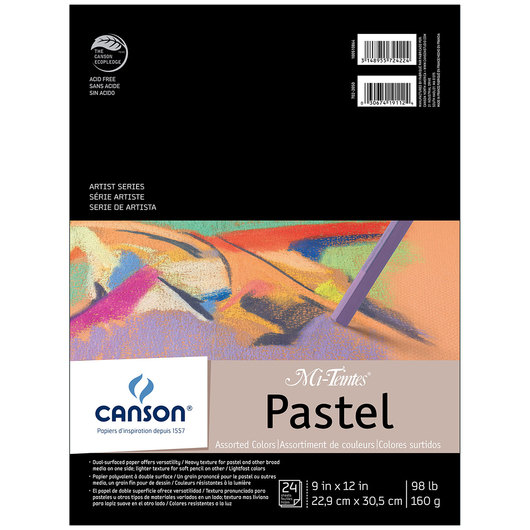 Canson® Mi-Teintes® Pastel Pad - 24 Sheets 9 in. x 12 in. - 75 lb.