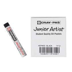 Sakura Cray-Pas® Junior Artist™ Oil Pastels - Black - Box of 12