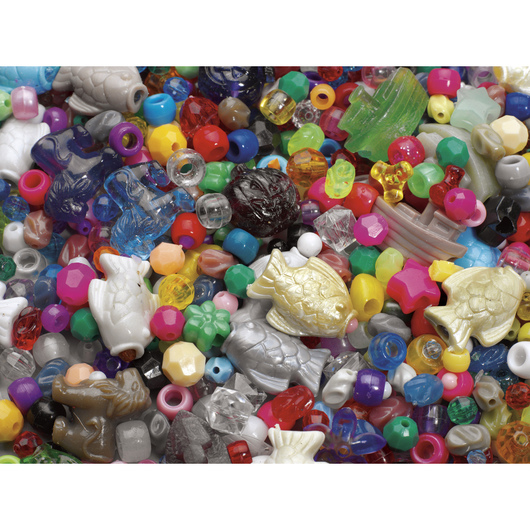 10-lb. Bag of Plastic Beads and Charms