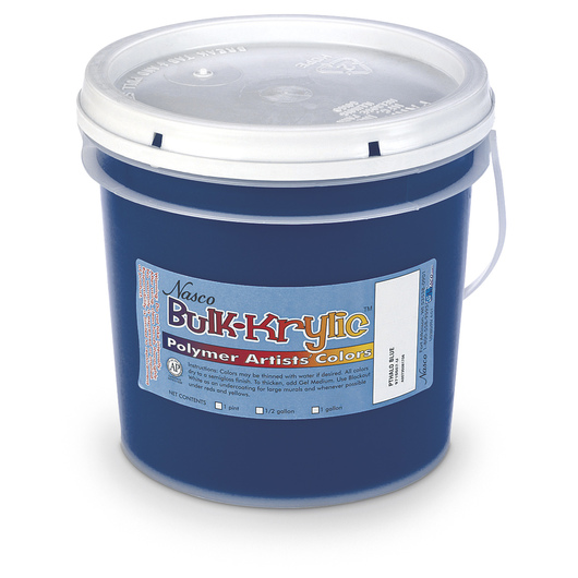 Nasco Bulk-Krylic® Acrylic Paint - Phthalo Blue - 1-Gallon Pail