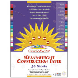 Pacon® SunWorks® Construction Paper - 9 in. x 12 in. - 50 Sheets