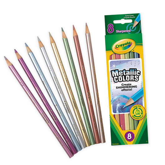Crayola® Metallic Colored Pencils - Set of 8