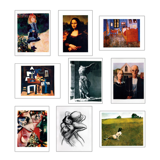 Mini Prints of Famous Art - Set of 50