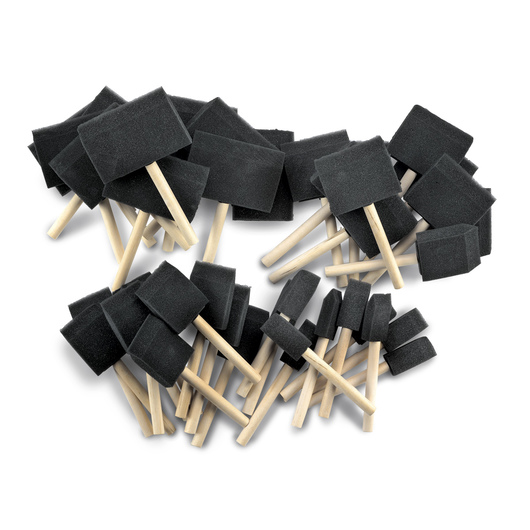 40-Piece Foam Paintbrush Assortment
