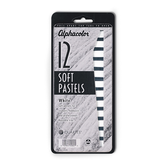 Alphacolor Soft Square Pastels White Pack of 3
