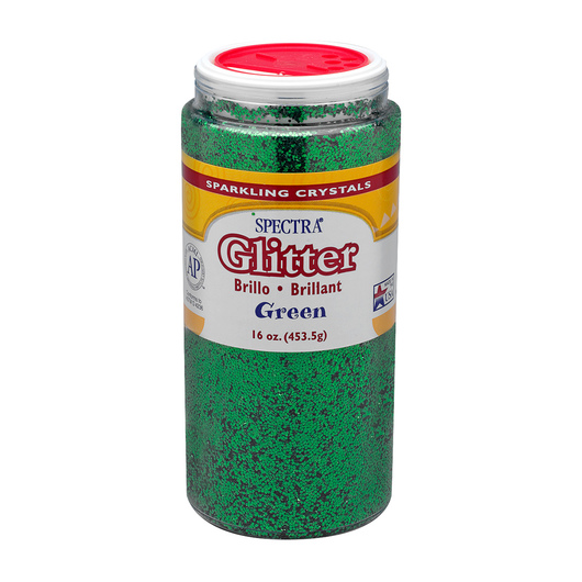 Pacon® Spectra® Glitter - 1-lb. Shaker Bottle - Green