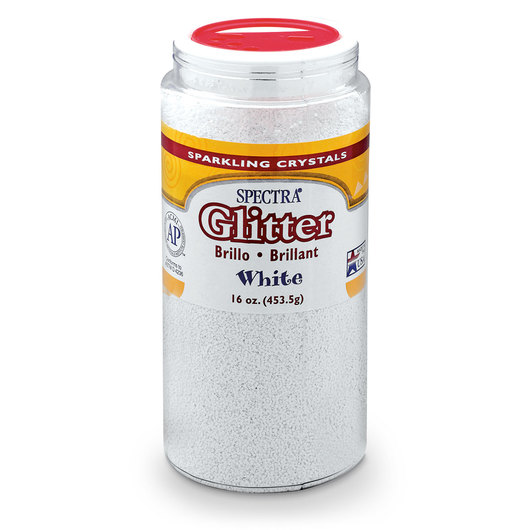 Pacon® Spectra® Glitter - 1-lb. Shaker Bottle - White