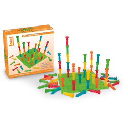 Tall-Stackers™ Pegs and Pegboard Set